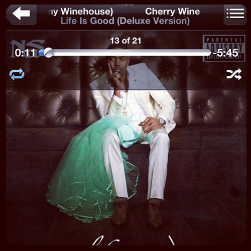 #NP Cherry Wine - Nas ft. Amy Winehouse (Taken with Instagram)