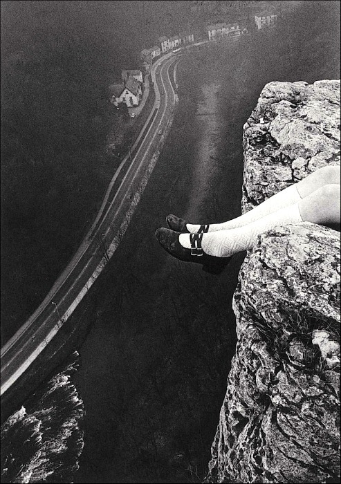 Legs over High Tor by Paul Hill, 1975