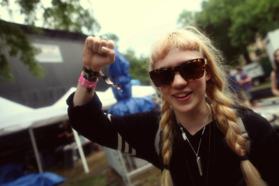 pitchfork:  Grimes at the Pitchfork Music Festival. Photo by Erez Avissar— more here.