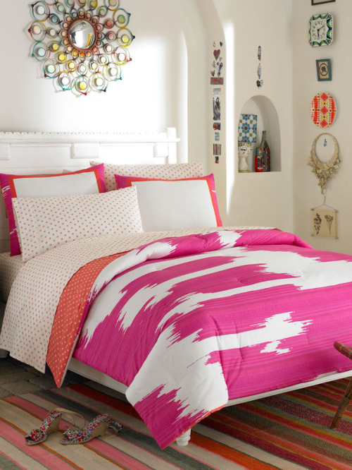 Add a pop of color to your room with our Ikat Pink bedding set, available now at a special price on GILT »