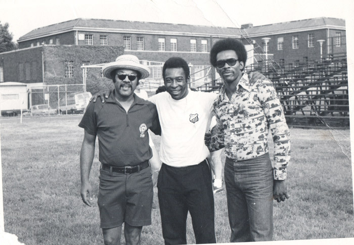 Pele visiting Howard University in the early 1970s. The historically black college in Washington DC was a major force in NCAA soccer in the 1970s - making national headlines - a story with roots to the 1920s explored by Tom Dunmore in XI Quarterly issue one.