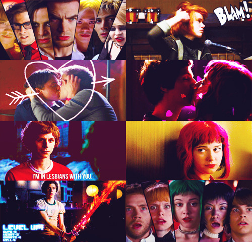 "Taco's Top 50 Films | 41↳ Scott Pilgrim vs the World ∞ Directed by Edgar Wright  ""I know you play mysterious and aloof just to avoid getting hurt. And I know you have reasons for not wanting talk about your past. I want you to know that I don't care about any of that stuff. Because I'm in lesbians with you. """
