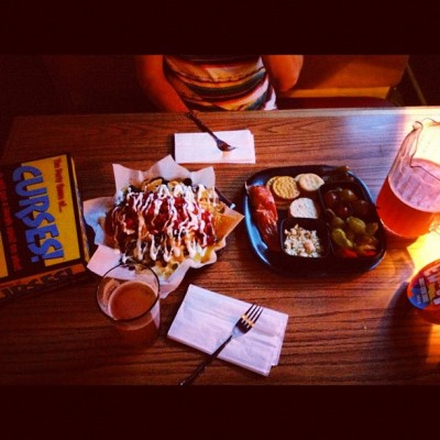 #tugboat #ipa #beer #brewery #bar #downtown #portland #nachos #smoked #salmon #pitcher #games #curses #dinner #food #delish  (Taken with Instagram)
