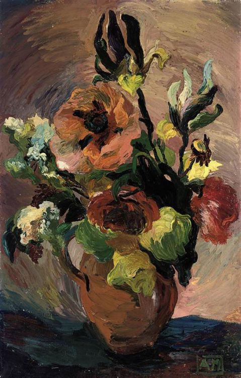 poboh: Anna Mayerson (English, 1906-84) ~ Summer Blooms