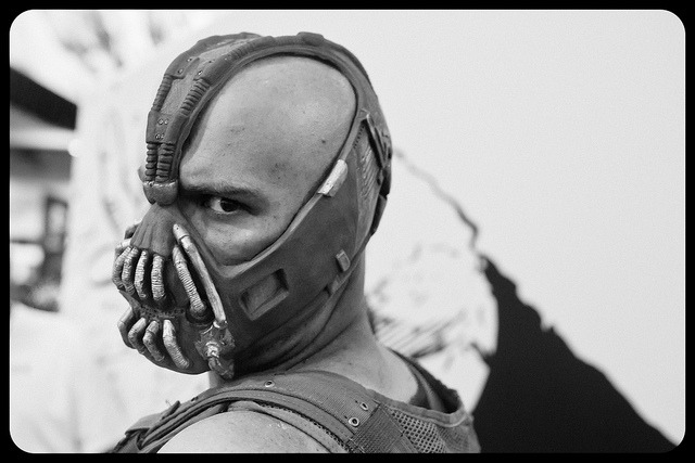 Bane of Batman's Existence on Flickr.Via Flickr: In Nolan We Trust Dark Knight Rises in less than 48 hours ps this looks REAL!!!! (like I was on sight at a movie set riiiiight?!!!) San Diego Comic Con 2012  photos begin here Here are links to my older con photos:my flickr SDCC set find me on:twitter | facebook  | tumblr  | 500px | Google+
