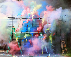 2011, SMOKE BOMBS 2, C- PRINT, 120 x 150 cm Edition 6