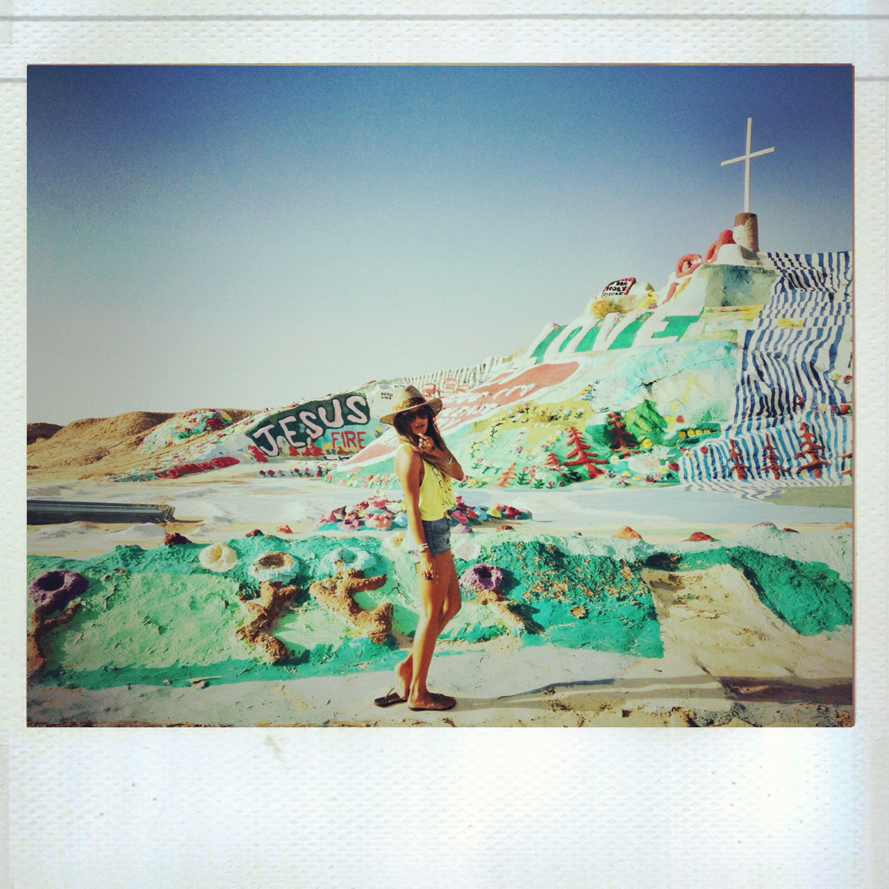 En route to NYC. First stop, Salvation Mountain!