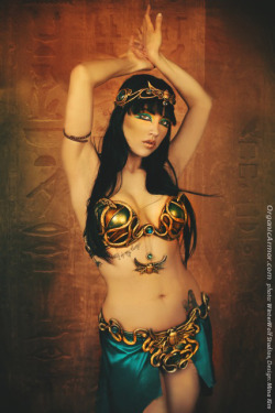 Egyptian Mina set by OrganicArmor.com, photography WinterWolfstudios.com, model Erin Jade, MUA Ruby Randall, based on a design by Mina Kim