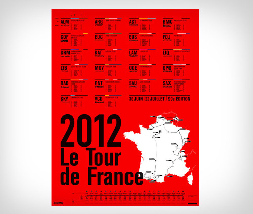 NoMo Designs Tour de France Posters. Hitting the wall.