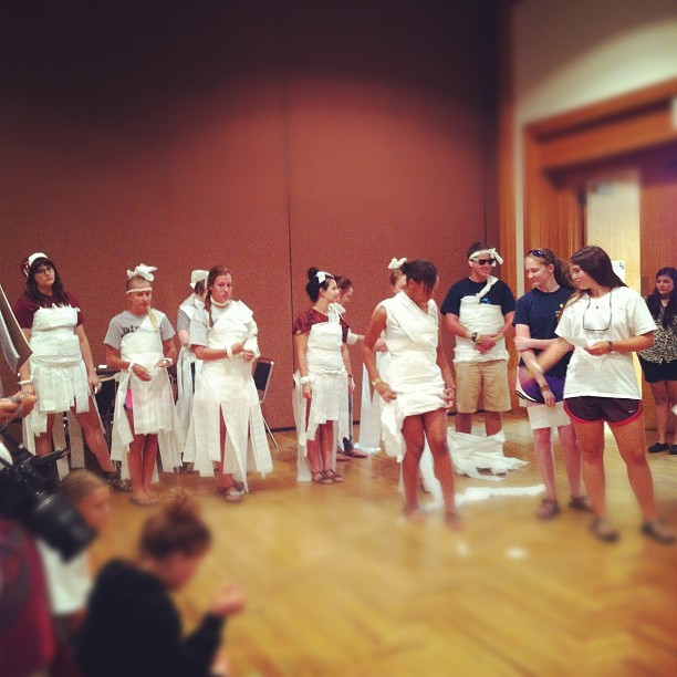 Toilet paper fashion show anyone? (Taken with Instagram)