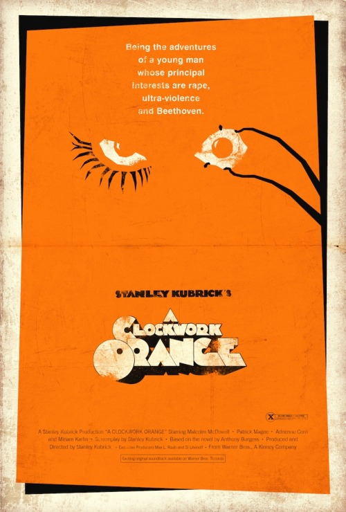Stanley Kubrick's A Clockwork Orange (1971)  by Adam Rabalais
