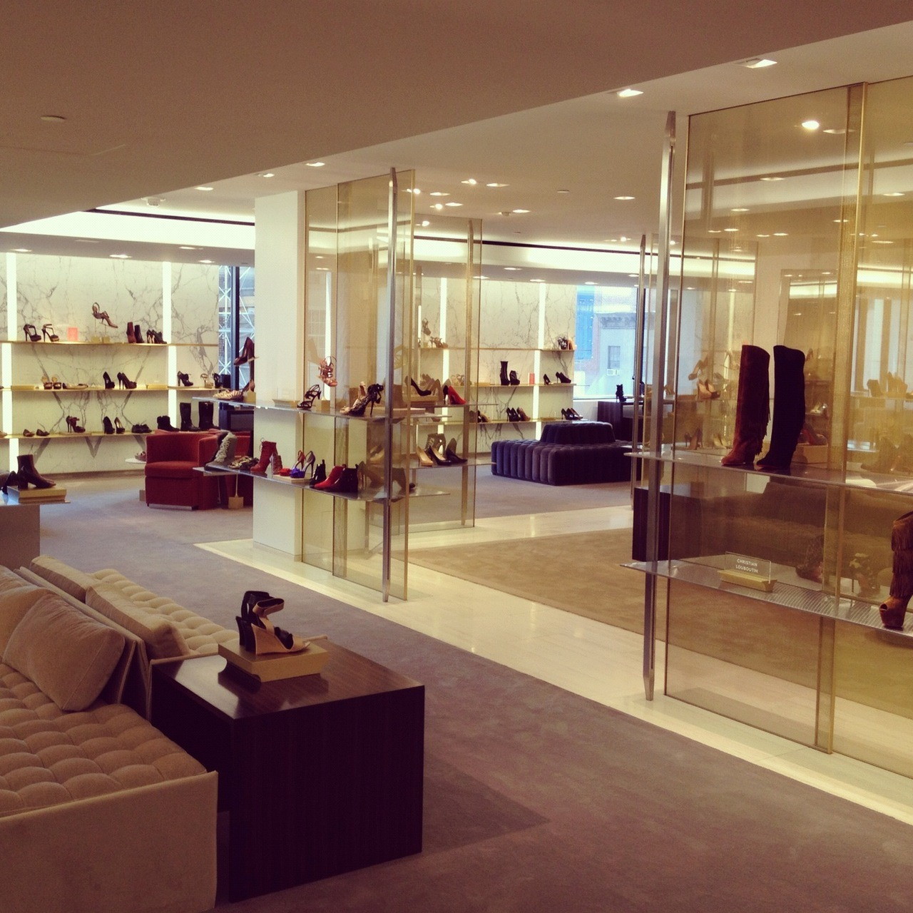 Field Trip to Barneys New York new shoe floor