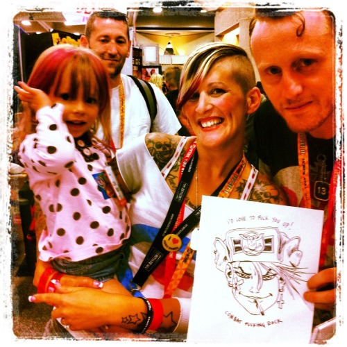 Me and Tankie at SDCC 2012! Erin made a great Tankie, and her daughters were really cute! Great day! Thanks everyone who came along! XXX Ruf - SGDM