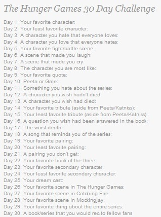 this is looks like an interesting challenge, well I'll join this :D Day 1: Your favourite character Absolutely, Peeta! He's the perfect character. I wish there's a man like this is really exist in this world ♥