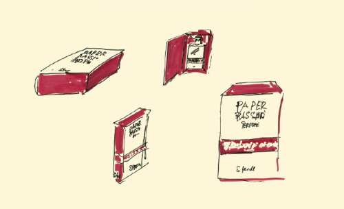 "theparisreview:  Karl Lagerfeld's sketch of the packaging for Paper Passion, a new fragrance by avant-garde perfumist Geza Schoen and Steidl in an attempt to ""bottle the seductive aroma of a freshly printed book."" (via Wallpaper*)  why does this not surprise me at all?"