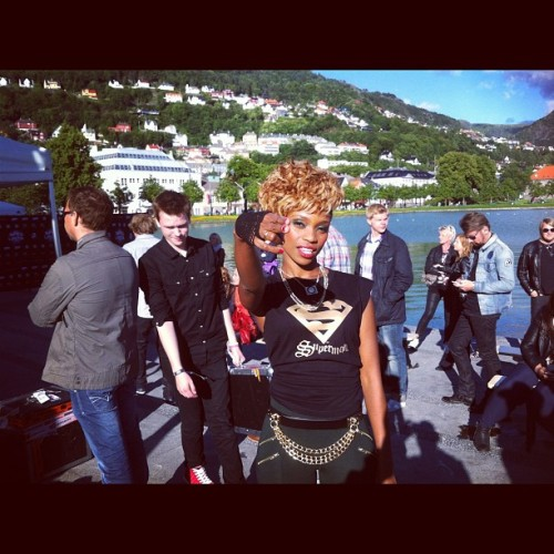 #BadAsIWannaBe bout to hit the stage in Bergen city  (Taken with Instagram)