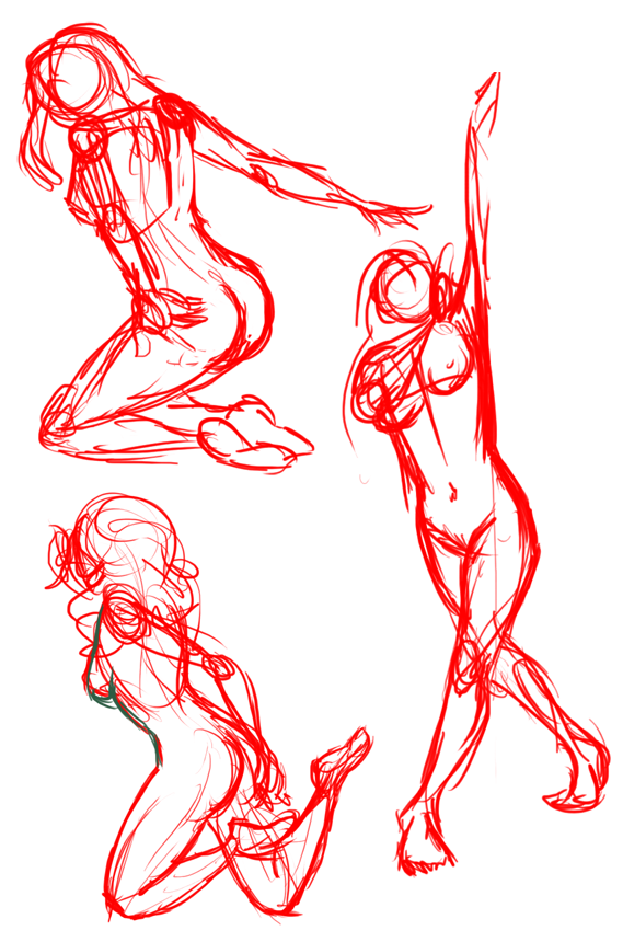 Some gesture drawings :T