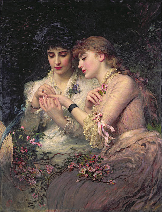 colourthysoul:  James Sant - A Thorn Amidst Roses (1887)