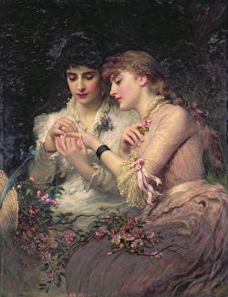 fugaciternelle:  A Thorn Amidst Roses by James Sant, 1887.  Lovely.
