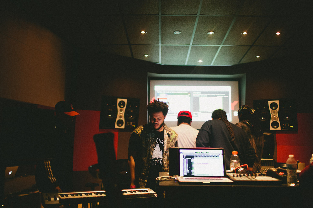 SHANE MCCAULEY - The Weeknd in his studio. Toronto 2012