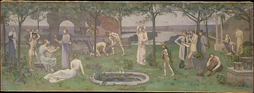 Inter artes et naturam (Between Art and Nature) Pierre Puvis de Chavannes  (French, Lyons 1824–1898 Paris)