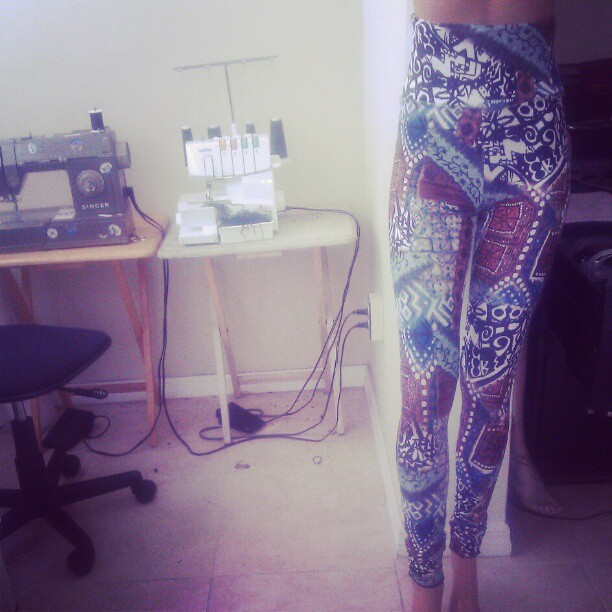 DOPE high waist G.A.G leggings. Www.getgagged.com #handmade #highwaist #miami #getgagged #gagleggings #gagonthis #fashion #leggings #crazyleggings  (Taken with Instagram)
