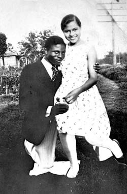 love2sepia:  Rosa and Raymond Parks. Married 45 years. They were married in 1932, meaning Rosa was only 19 years old at that time. Raymond was a member of the NAACP, actively supporting the efforts to raise money for the Scottsboro Boys case. While Rosa took on various domestic-type jobs to support their home, Raymond still encouraged her to complete her high school studies and earn her diploma. This was no small feat, considering that only a small percentage of Blacks had actually done this—especially in the Jim Crow South. Rosa would go on to make history when she refused to move from her seat on the Cleveland Avenue Bus on December 1, 1955, in Montgomery, Alabama. How sweet is it that Rosa's husband encouraged her to finish high school, even though he most likely knew that she would be subjected to menial jobs throughout her life? Way to go, Raymond—that was totally awesome of you.