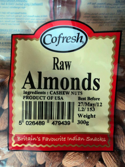collegehumor:  Almonds Made of Cashews Britain's favorite Indian snacks are apparently a product of the USA.