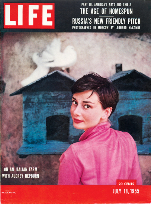 life: On this day in LIFE Magazine — July 18, 1955: On an Italian farm with Audrey Hepburn