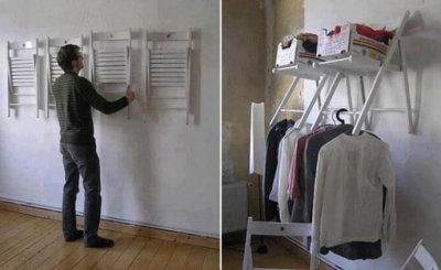No closet? No problem. (via)