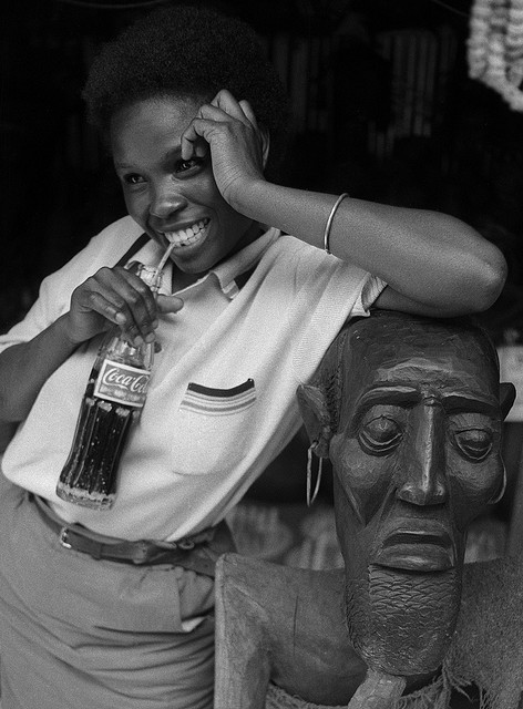Curio Vendor in City Market, Nairobi, Kenya (1990) Photo by David Blumenkrantz