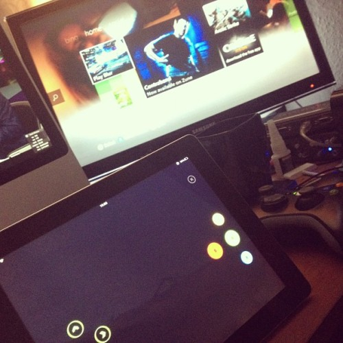 iPad controlled Xbox! (Taken with Instagram)