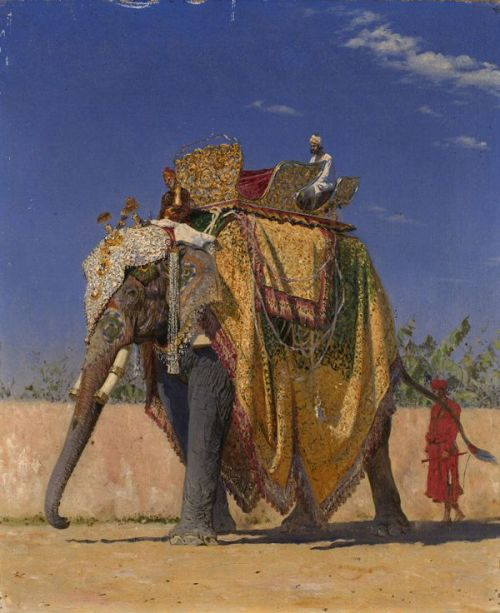 vintageindia:  Vasily Vereshchagin - The Royal Elephant, (1842–1904).