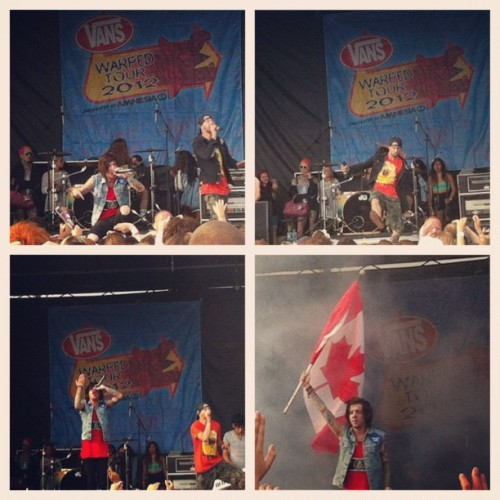 Breathe Carolina @warpedtour 🎤 #warped #warpedtour #warpedtour2012 #vanswarpedtour2012 #iphoto #iphone4 #instagood #instamood #instamoment #instashot #instaphoto #vanswarpedtour12 #picstitch #live #preforming #band #breathecarolina #lovelovelove #flag #canada #warpedtoronto #toronto #pride #amazing  (Taken with Instagram)