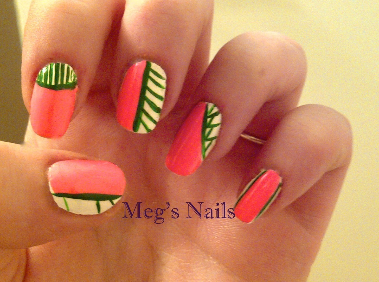 simple stripes, and yes I used  china glaze flip flop fantasy again… im kinda obsessed with it :)