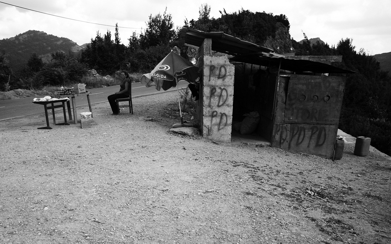 On our way to Tirana, Albanian countryside // July 2011