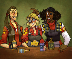 heckyeahtheengineer:  «Drinking Buddies by catwings30»