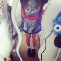 my new cat shirt & creepers