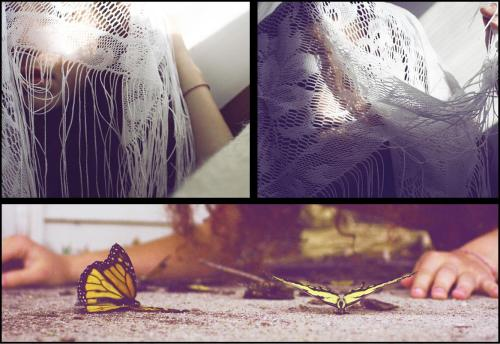 butterflies and lace. I did this in 2010<3