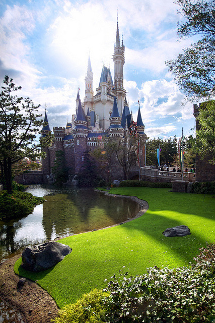 Castle Shadow on Flickr.Cinderella Castle Tokyo Disneyland