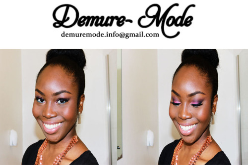 "Make Up by Demure Mode. ""like our page on Facebook: http://www.facebook.com/pages/Demure-Mode/278914705511996"