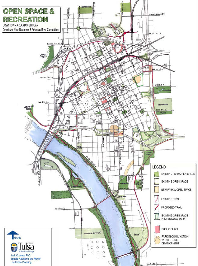 Click here for Jack Crowley's Downtown Tulsa Master Plan. He has now been retained to do the same for Downtown Athens, Georgia.