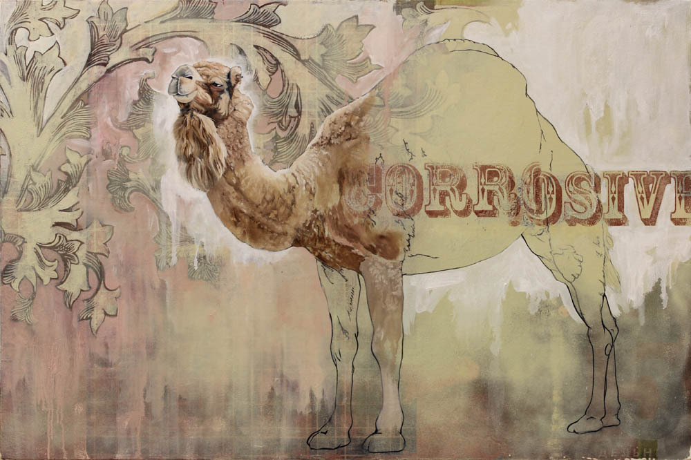camel [work in progress]oil, mixed media on panel24 x 36 inches