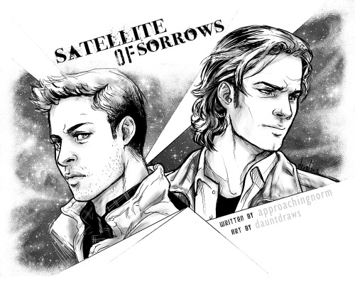 Satellite of Sorrows - SPN J2 BIGBANG 2012 Written by approachingnorm My art post with icons, divider and end image (nothing big). Really glad I got this finished on time, it's been such a crazy month I wasn't sure if it would turn out!  I wish I'd had time to draw more for it.  :) I MISS DRAWING SAM & DEAN.  :C