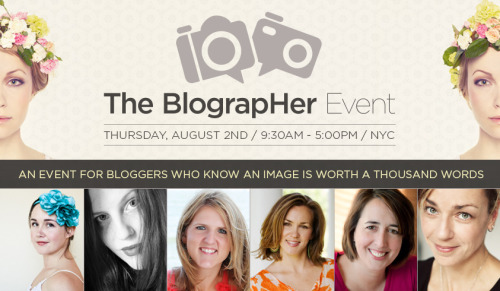 "The BlograpHER event hosted by Adorama  Everyone, I am really, really excited to announce this bit of news.   I will be co-leading a session called ""Developing Your Unique Vision"" with the wonderful Lotus Carroll and Lisa Bettany at an event called Blographer on August 2nd hosted by Adorama here in NYC.    Here are the details:  The Blographer Event brought to you by Adorama  Did I mention that I am excited? :)  —-  View my photography for sale here, email me, or ask for help."