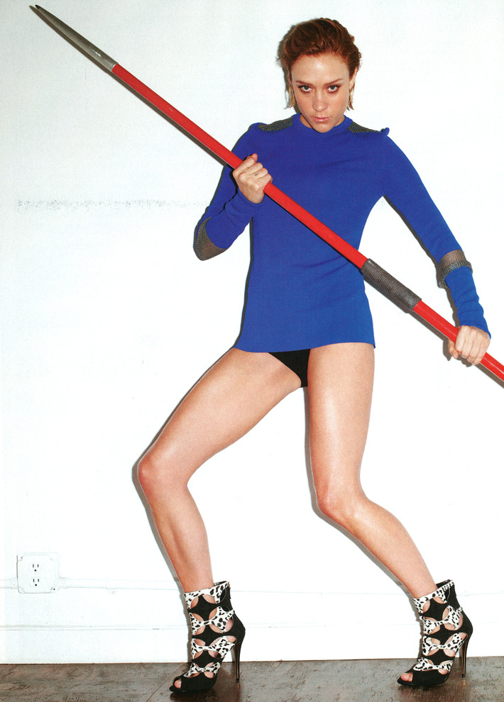 Chloe Sevigny photographed by Terry Richardson for Out Magazine. Hair: Jeff Francis. Makeup: Maki H. Manicure: Alicia Torello. Prop Styling: Andy Harman.