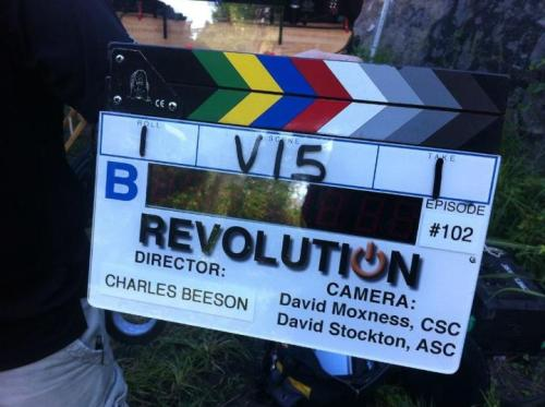 nbctv:  and: ACTION– Revolution is filming now!  Please be good.