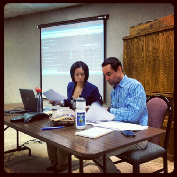 Front row for @KimberlyAChua @soitsrandy preso (Taken with Instagram at Contra Costa Times)