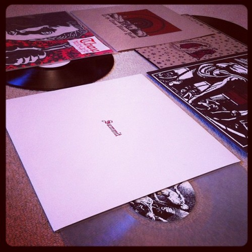 "THOU - Baton Rouge…12"" + Summit LP + Cower split LP + To the chaos wizard youth 12"" in distro. #thou #nola #sludge #doom (Taken with Instagram)"