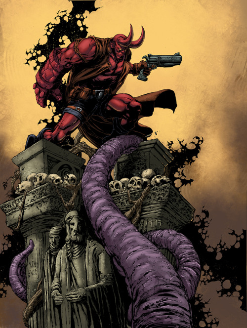 Hellboy by *logicfun —-x—- More: | Hellboy | Random |